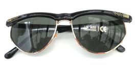 Retro Sonnenbrille 60er Jahre in Schwarz/ Grün Vintage Unisex (6)