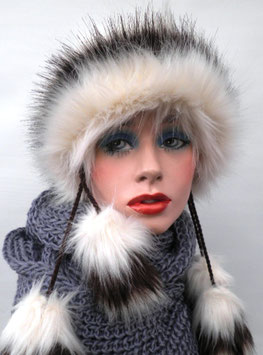 Damenmütze Tatramütze Bommelmütze mehrfarbig ( 7 )