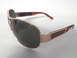 Sonnenbrille Pilotenbrille Gold/Braun Grünton Herrenbrille Damenbrille UNISEX  (40)