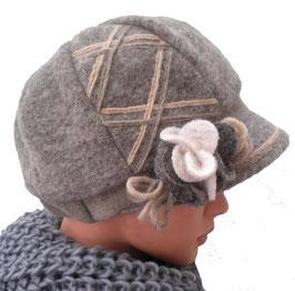 Damenmütze warme Wollschirmmütze Farbauswahl Stoffmix Damenmützen Strickmützen (22)