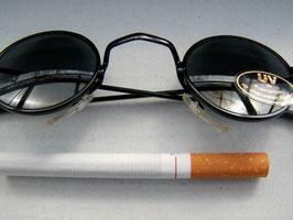 Retro Sonnenbrille 60er Jahre Vintage Nickelbrille schwarz UNISEX Sonnenbrillen (3)