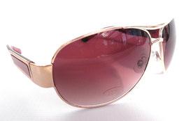 Sonnenbrille Pilotenbrille Gold/Braun Braunton Herrenbrille Damenbrille UNISEX (41)