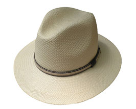 "Panamahut Klassiker gerade Hutkrempe  ""Made in Ecuador"" Fasern aus Toquillas. ( 45 )"