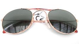 Sonnenbrille Pilotenbrille in Gold/Grün Retro Sonnenbrille 70er Jahre Vintage (15)