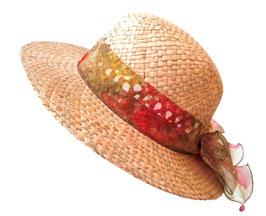 Damenhut eleganter Naturstrohhut Sonnenschutz Urlaub Garten Sommerhut 65)