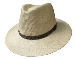 "Panamahut Klassiker gerade Hutkrempe  ""Made in Ecuador"" Fasern aus Toquillas. ( 44 )"