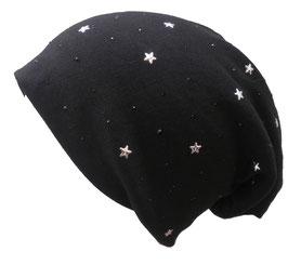 Beanie XL mit Sterne und Pailletten ,ganzjährig tragbar, in 6 Farben zur Auswahl. (18)