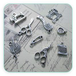 MIX COSTURA VINTAGE plata vieja (10 piezas variadas)