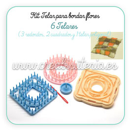 Kit telares bordar flores B830079