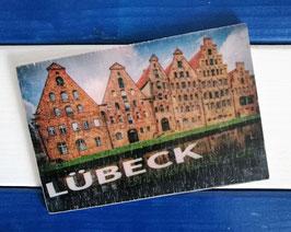 Post Woodkaart - Lübeck Salzspeicher
