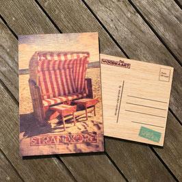 Post Woodkaart - Strandkorb Rot