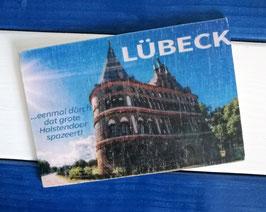 Post Woodkaart - Lübeck Holstentor 2