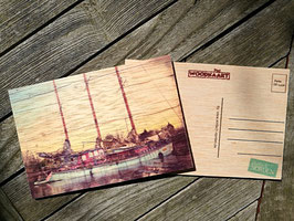 Post Woodkaart - Schiff
