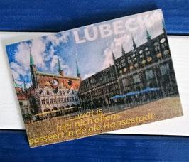 Post Woodkaart - Lübeck Rathausplatz