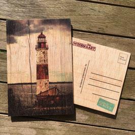 Post Woodkaart - Leuchtturm