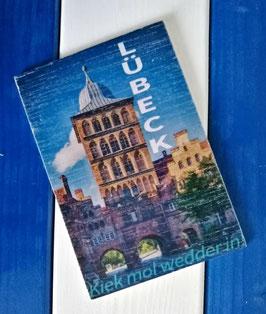 Post Woodkaart - Lübeck Burgtor