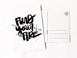 "Postkarte ""find your fire"""
