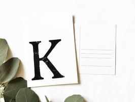 """Postkarte """"k"""""""