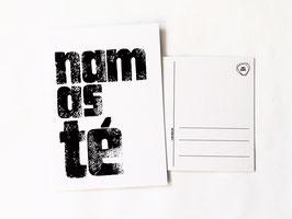"""Postkarte """"namaste"""""""