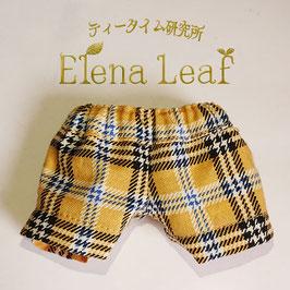 13cmサイズ 黄色いチェックのおズボン