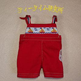 Mサイズ 赤いオーバーオール