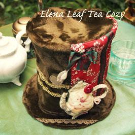 *帽子型ティーコージー&マットセット 赤梅/カーキ ティーコゼー