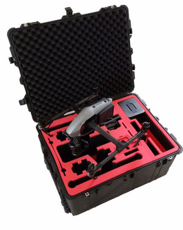 Professional Expert Carrying Case for DJI Inspire 2 – Landing Mode case with attached camera X4S/X5S space for up to 20 batteries, lenses