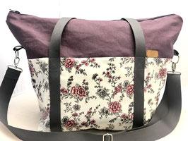 Weekender-Bag/ Sporttasche aus Wachstuch nähen
