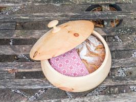 Runde Brotdose Small aus Zirbe - gedrechselt
