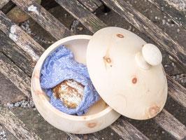 Runde Brotdose aus Zirbe - gedrechselt, XSmall