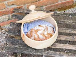 Runde Brotdose aus Zirbe - gedrechselt, Medium