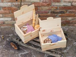 Brotkiste aus Zirbe - Eckig