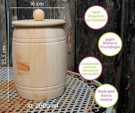 XL Vorratsdose aus Zirbe - Fässer