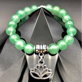 """Lotus"" Bracelet Aventurine Verte"
