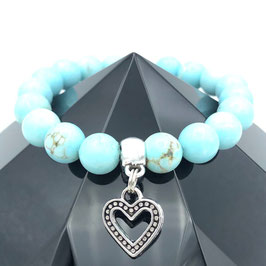 """""""Cœur"""" Bracelet Turquoise"""