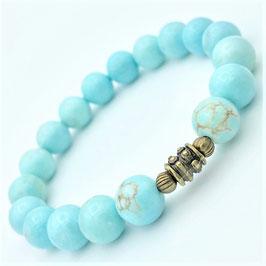 """""""Sita Bronze"""" Bracelet Turquoise"""