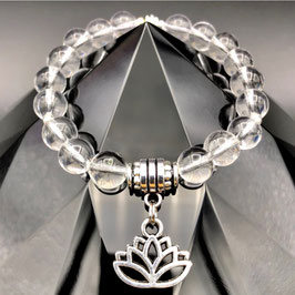 """""""Lotus"""" Bracelet Cristal de Roche"""