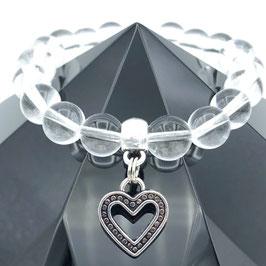 """""""Cœur"""" Bracelet Cristal de Roche"""