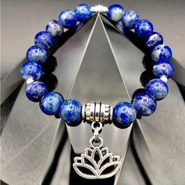 """Lotus"" Bracelet Lapis-lazuli"