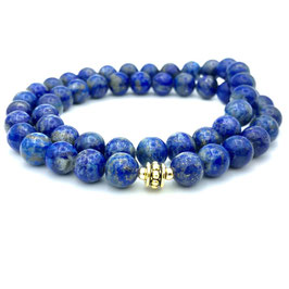 Collier de perles de Lapis-lazuli naturel