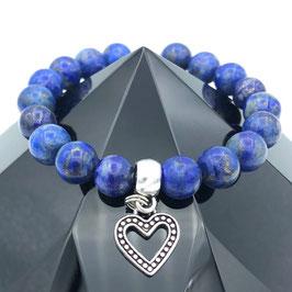 """Cœur"" Bracelet Lapis-lazuli"