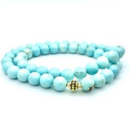 Collier de perles de Turquoise naturelle
