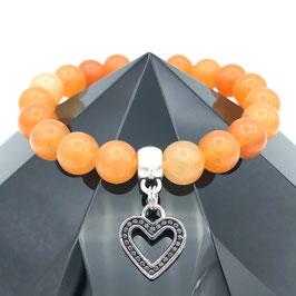 """Cœur"" Bracelet Aventurine Orange"