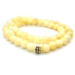 Collier de perles de Jade Jaune naturelle
