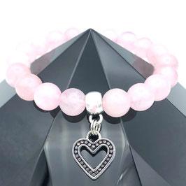 """Cœur"" Bracelet Quartz Rose"