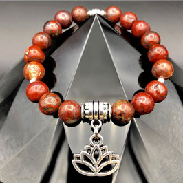 """""""Lotus"""" Bracelet Jaspe Bréchique"""