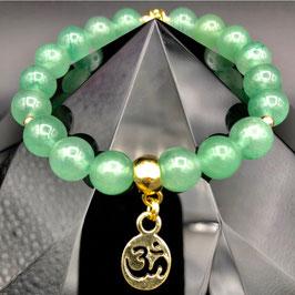 """""""Om"""" Bracelet Aventurine Verte"""