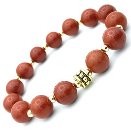 """Ganga Gold"" Bracelet Jaspe Rouge"