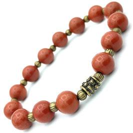 """Devi Bronze"" Bracelet Jaspe Rouge"