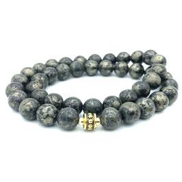 Collier de perles de Pyrite